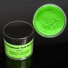 Acryl Powder 30 g neon green