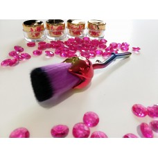 Dust brush black-purple